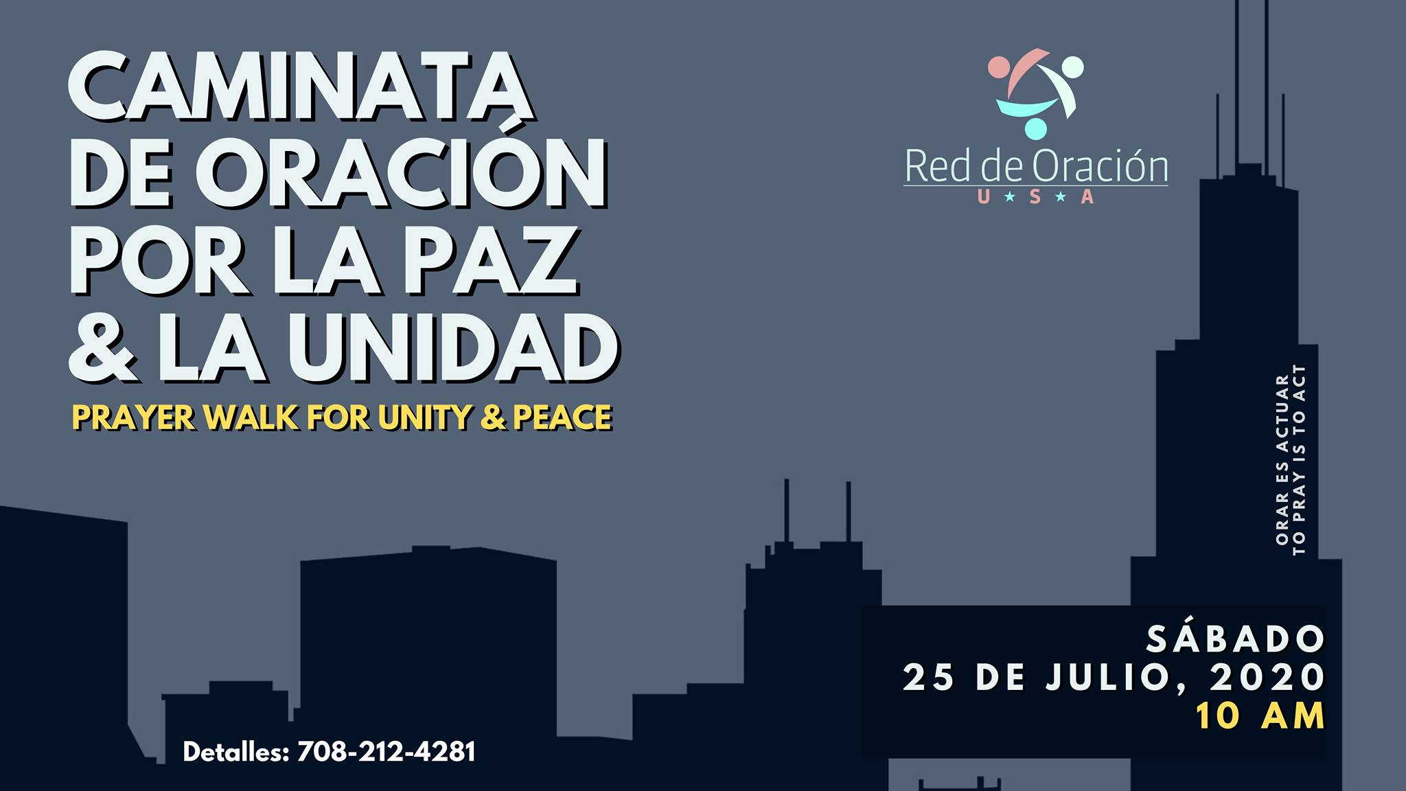 Caminata de Oracion / Prayer walk for peace & unity