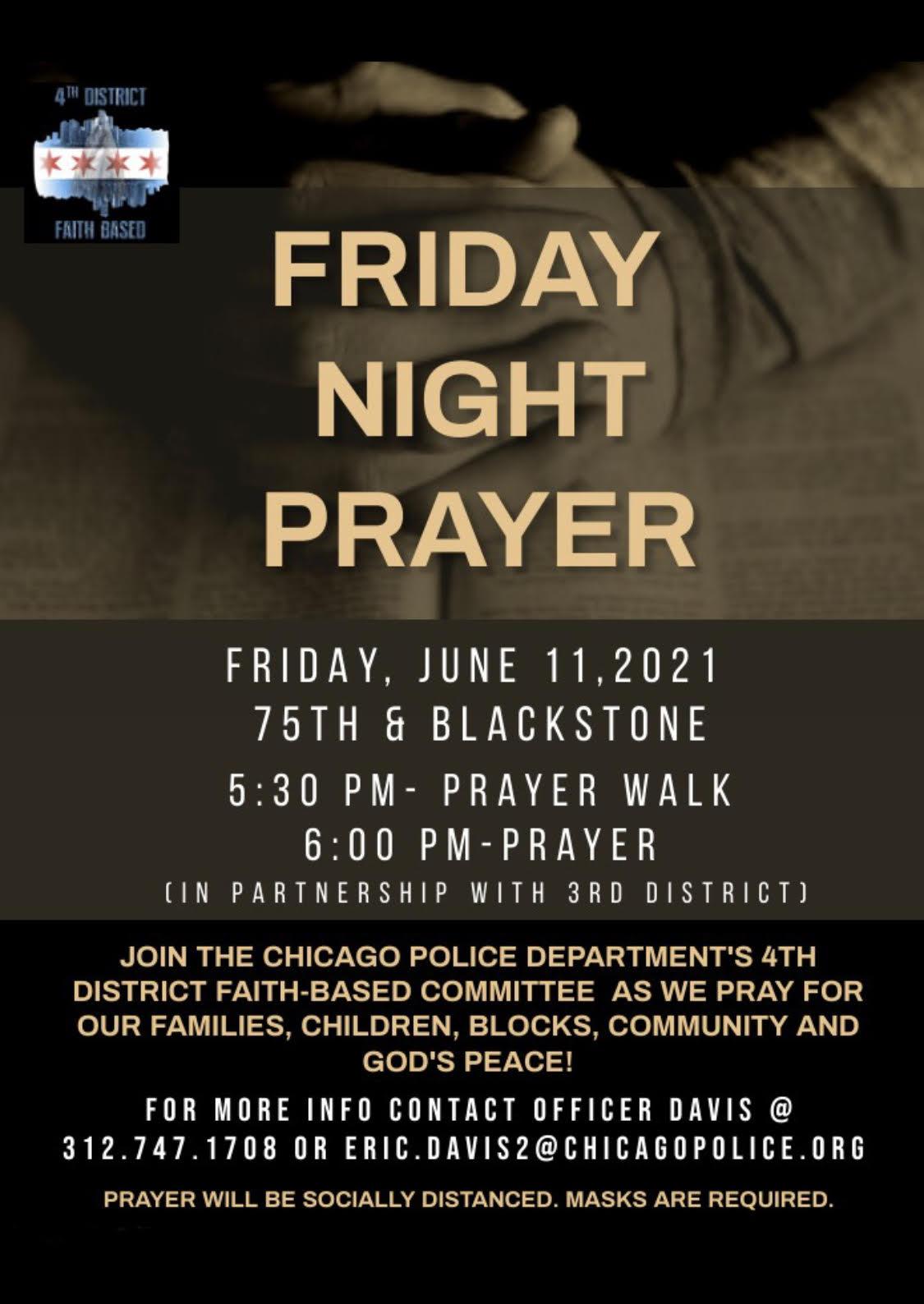 Friday Night Prayer (4th District)