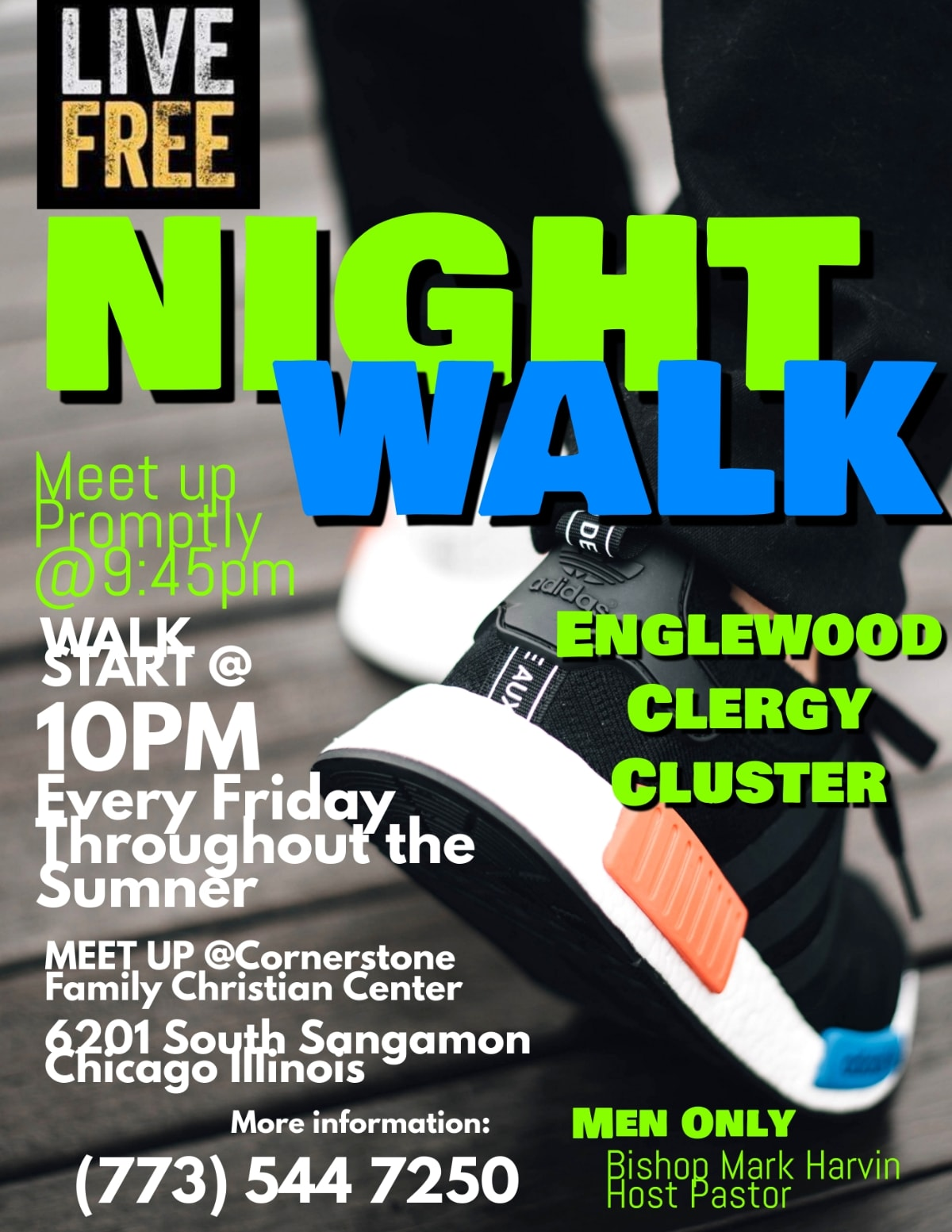 Live Free Englewood Night Walk