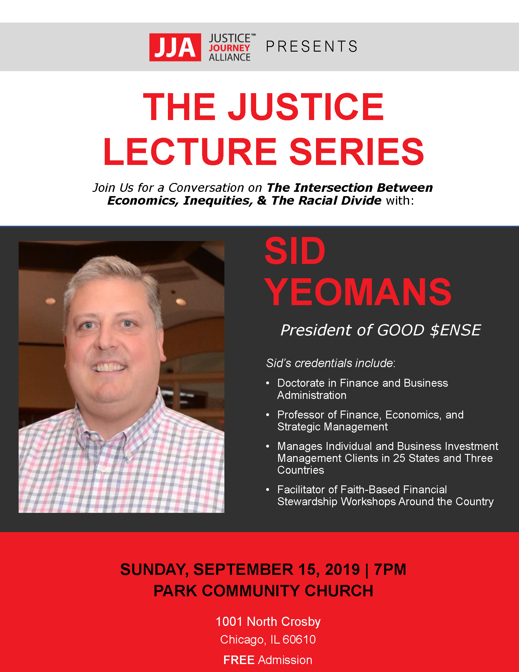 The Justice Lecture Series - Sid Yeomans