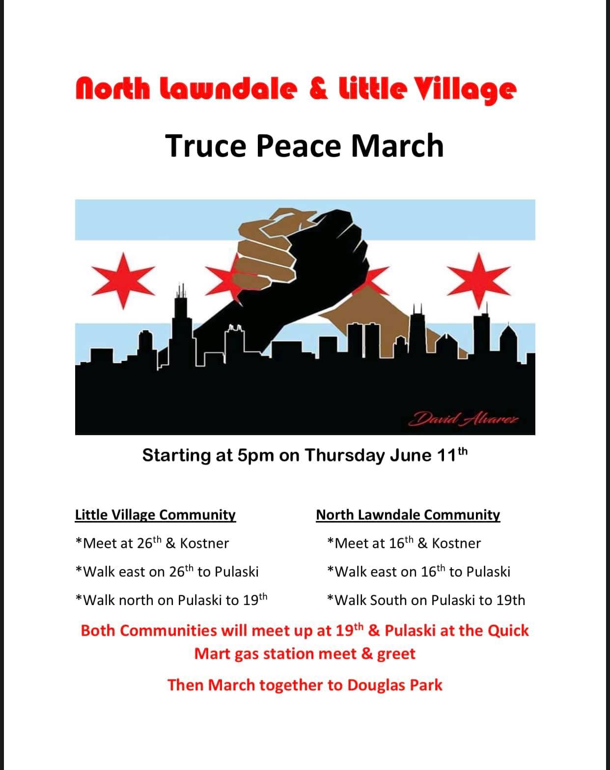 North Lawndale & Little Village Truce Peace March