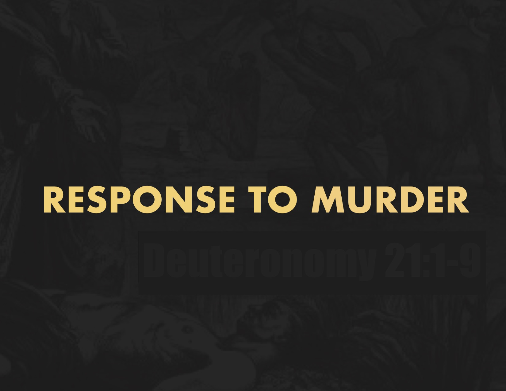 Response To Murder Of Caleb Reed