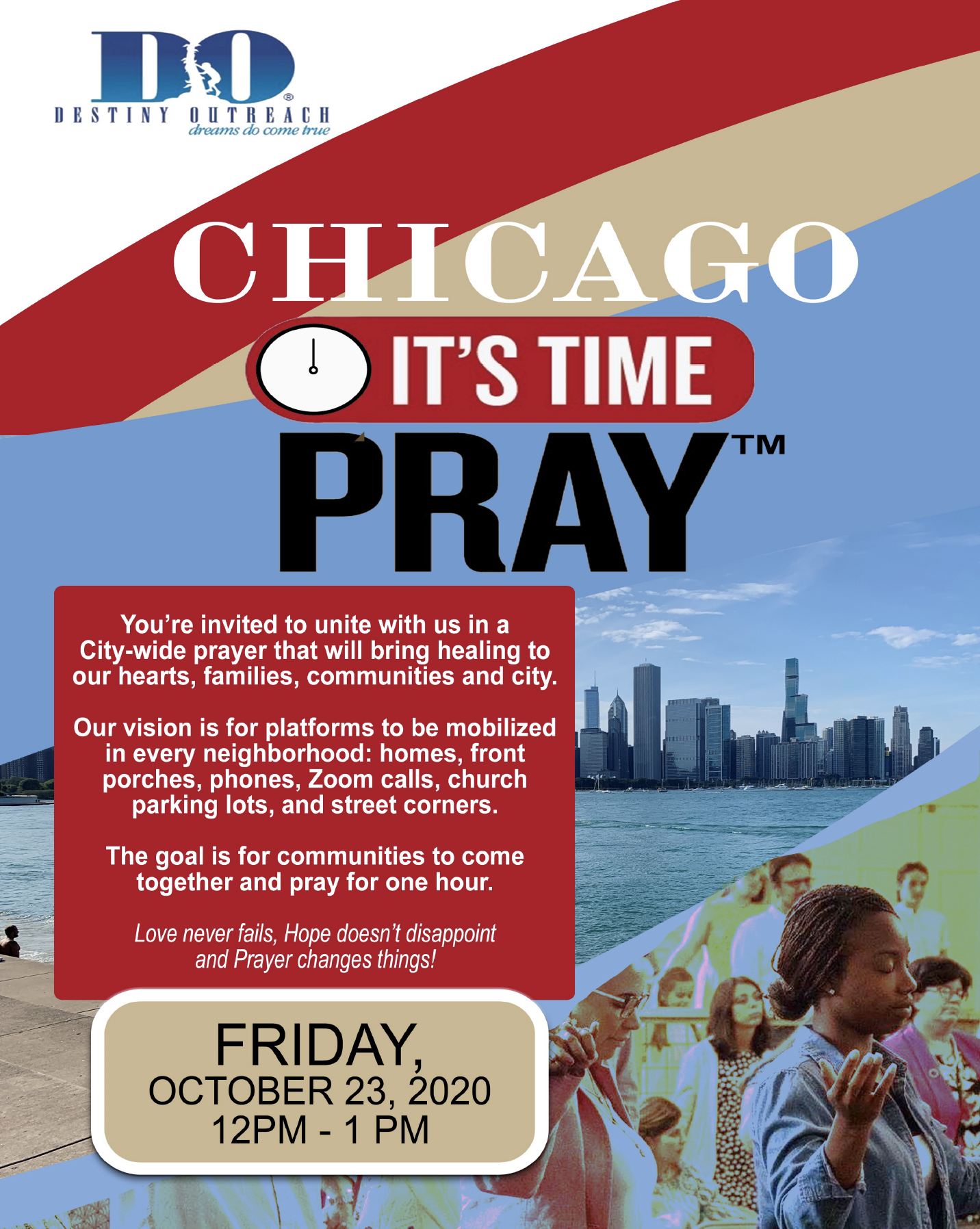 Chicago, It's Time to Pray Flyer