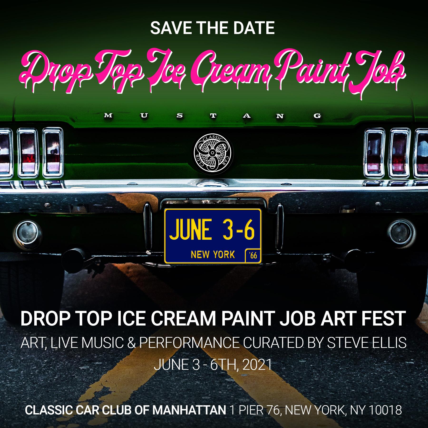 Drop Top Ice Cream Paint Job: Art, Music & Cars