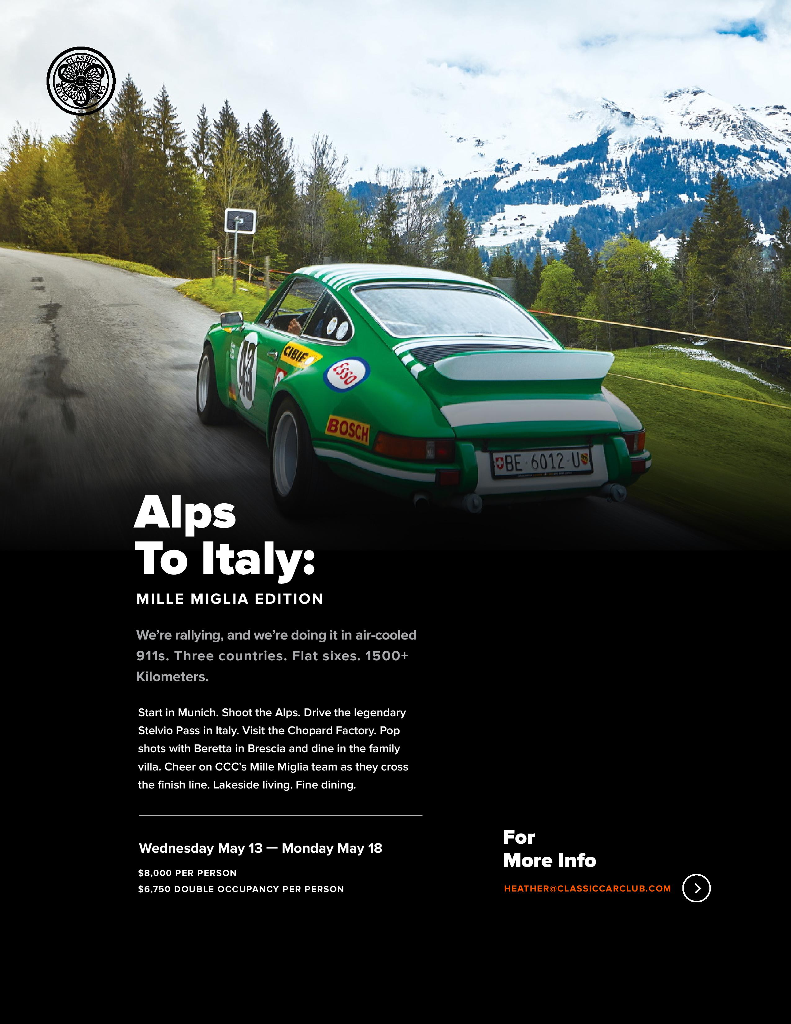 Alps To Italy: Mille Miglia Rally 2020