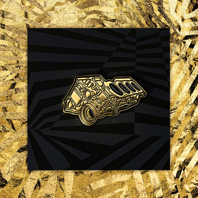 MEMBERS ONLY GOLD ENGINE PIN