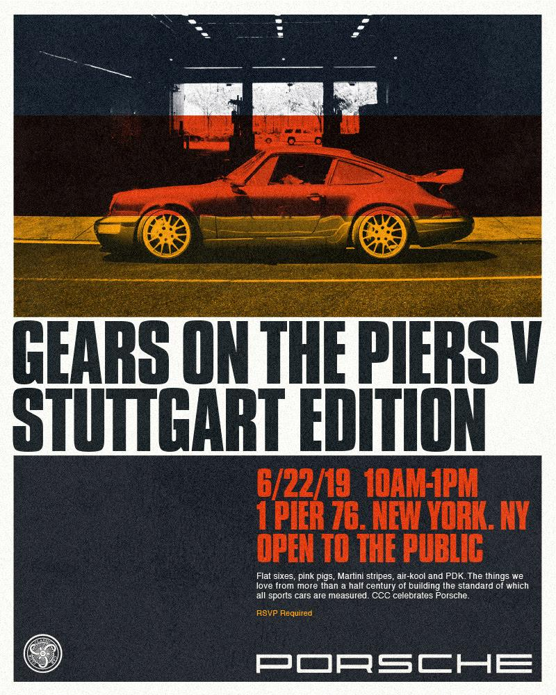 Gears On The Piers V: Porsche Edition Poster
